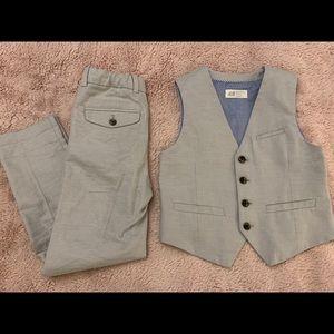 H&M Boys Matching Dress Pants and Vest Size 6-7